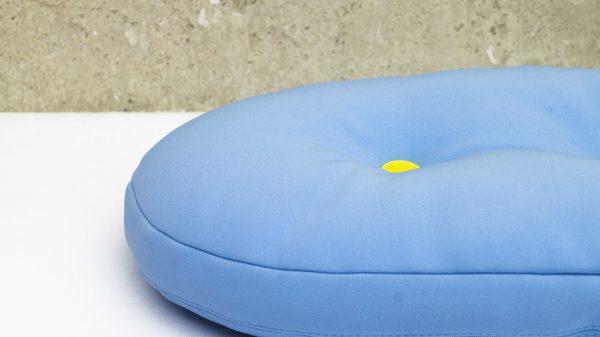 Drageekissen in blau aus Softshellstoff outdoor tauglich