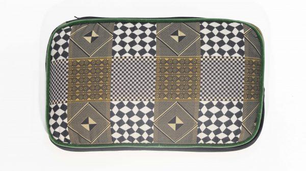 Quaderförmiges Kissen aus 60s Baumwolljaquard