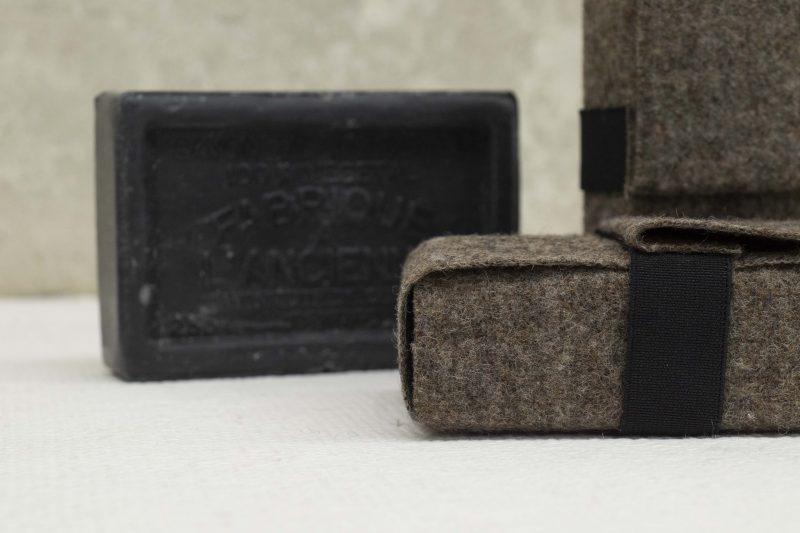 Kollektion Raffia Wollverpackung für Seife aus Marseille